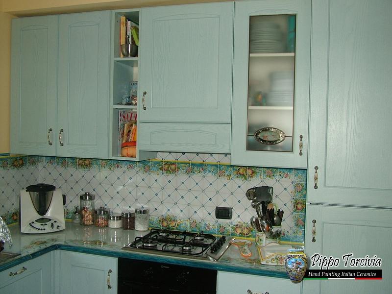 Scheda prodotto: cucina melognano turchese ceramiche torcivia srl