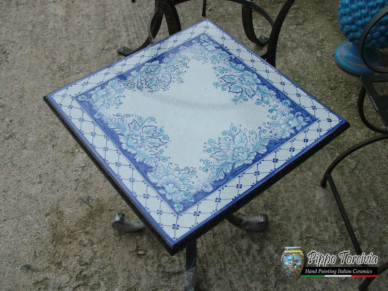 Scheda prodotto tavolo orchidea blu ceramiche torcivia srl for Tavolo 90x60