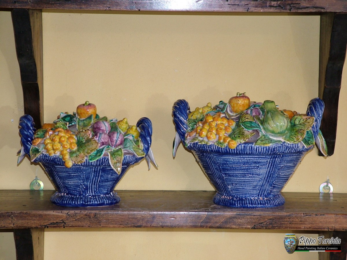 Scheda prodotto cesto di frutta ceramiche torcivia srl for Cesto di frutta disegno